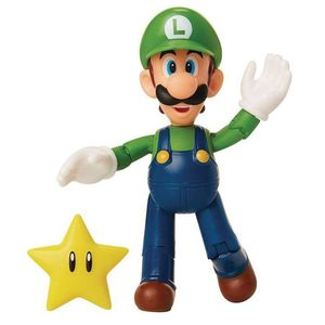 [World Of Nintendo: Action Figure: Luigi With Super Star (Product Image)]