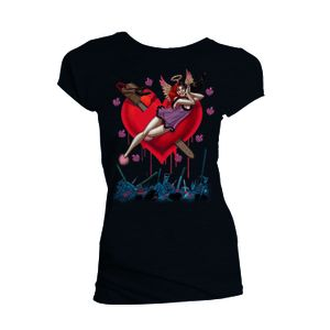 [Batman: Women's Fit T-Shirt: I Heart Harley Quinn By Amanda Conner (Product Image)]
