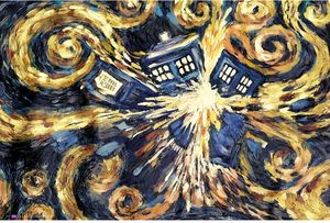 [Doctor Who: Poster: Exploding TARDIS (Product Image)]