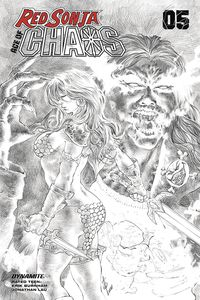 [Red Sonja: Age Of Chaos #5 (Quah Black & White Variant) (Product Image)]
