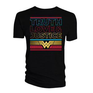[Wonder Woman 1984: T-Shirt: Truth, Love & Justice (Product Image)]