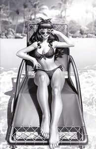 [Bettie Page #1 (Yoon Black & White Virgin Variant) (Product Image)]