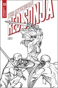 [Invincible Red Sonja #2 (Linsner Line Art Variant) (Product Image)]