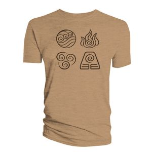 [Avatar The Last Airbender: T-Shirt: All Elements (Sand) (Product Image)]