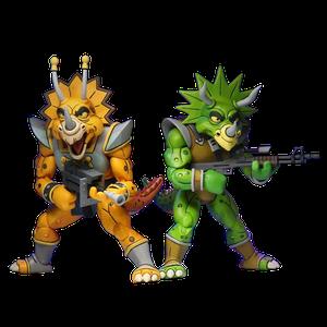 [Teenage Mutant Ninja Turtles: Cartoon Action Figure 2 Pack: Captain Zarax & Zork (Product Image)]
