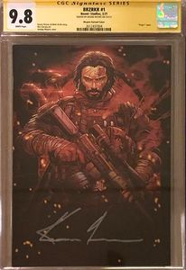 [BRZRKR (Berzerker) #1 (Cover O 1000 Copy Meyers Variant Signed By Keanu Reeves) (CGC 9.8) (Product Image)]