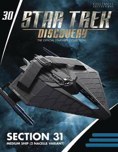 [Star Trek: Discovery Figurine Magazine #30: Section 31 Ship Medium (2 Nacelles Variant) (Product Image)]