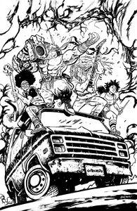 [Skybound X #3 (Cover G Black & White Johnson Variant) (Product Image)]
