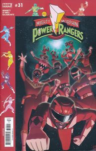 [Mighty Morphin Power Rangers #31 (Subscription Gibson Variant) (Product Image)]