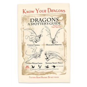 [Harry Potter: Tea Towel: Know Your Dragons (Product Image)]