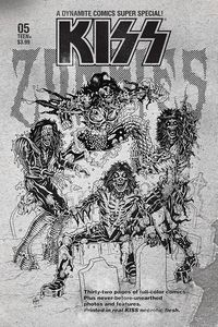 [Kiss: Zombies #5 (Haeser B&W Variant) (Product Image)]