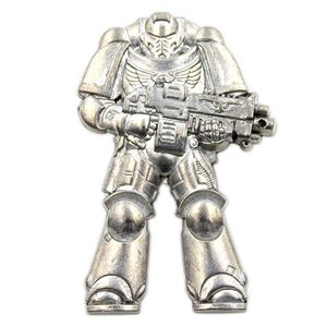 [Warhammer 40k: Pin Badge: Paint Your Own Spacemarine (Product Image)]