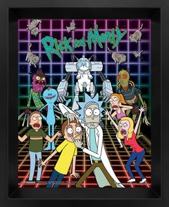 [Rick & Morty: Lenticular Poster: Characters Grid (Product Image)]
