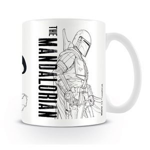 [Star Wars: The Mandalorian: Mug: Line Art (Product Image)]