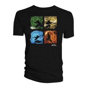 [Avatar The Last Airbender: T-Shirt: Benders Of The Elements (Product Image)]
