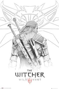 [The Witcher: Wild Hunt: Poster: Geralt Sketch (Product Image)]
