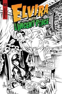 [Elvira Meets Vincent Price #2 (Cover G Acosta Line Art Variant) (Product Image)]