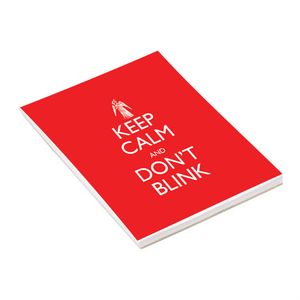 [Doctor Who: Notepad: Keep Calm & Don't Blink (Product Image)]