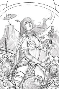 [Mars Attacks/Red Sonja #1 (Strati Sketch Virgin Variant) (Product Image)]