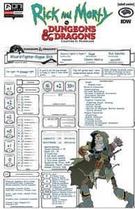 [Rick & Morty Vs D&D II: Painscape #3 (Cover C Character Sheet (M) (Product Image)]