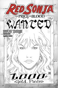 [Red Sonja: Price Of Blood #3 (Geovani Black & White Variant) (Product Image)]