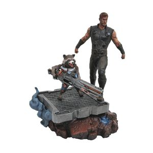 [Avengers: Infinity War: Premiere Collection Statue: Thor & Rocket (Product Image)]