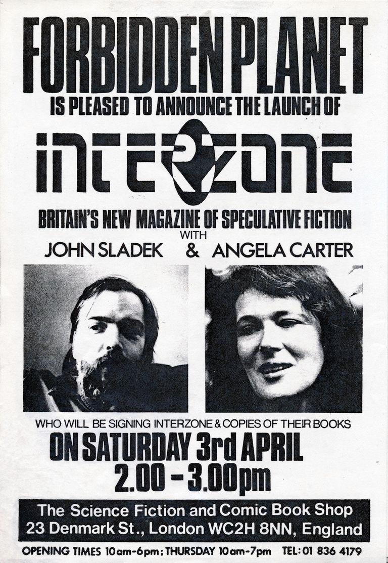 John Sladek and Angela Carter Signing Interzone