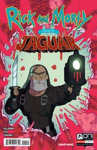 [The cover for Rick & Morty Presents: Jaguar #1 (Cover A Ellerby)]