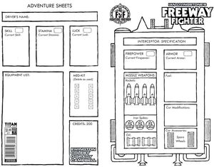 [Freeway Fighter #1 (Fan Appreciation Gamesheet Variant) (Product Image)]