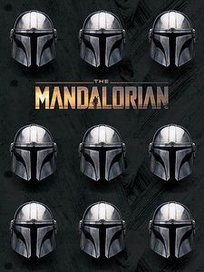 [Star Wars: The Mandalorian: 30x40 Canvas Print: Helmets (Product Image)]