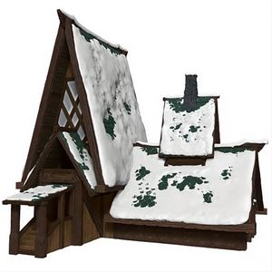 [Dungeons & Dragons: Lodge Papercraft Set: Icewind Dale: Rime Of The Frostmaiden (Product Image)]