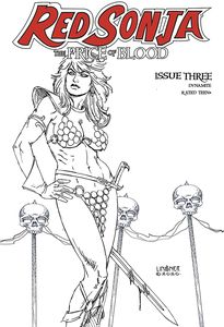 [Red Sonja: Price Of Blood #3 (Linsner Black & White Variant) (Product Image)]