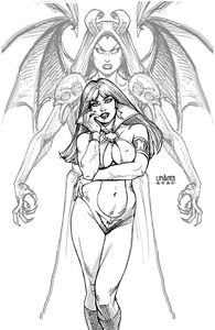 [Vampirella Vs Purgatori #1 (Linsner Black & White Virgin Variant) (Product Image)]