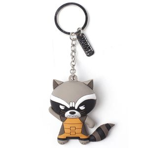 [Marvel: Guardians Of The Galaxy: 3D Rubber Keychain: Rocket Raccoon (Product Image)]