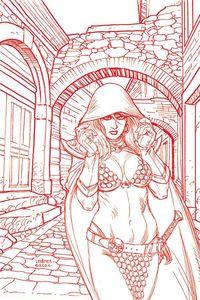 [Red Sonja #21 (Linsner Tint Virgin Variant) (Product Image)]