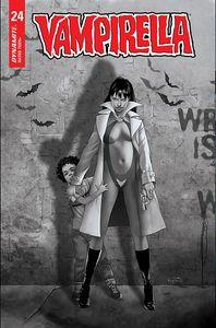 [Vampirella #24 (Cover G Gunduz Black & White Variant) (Product Image)]