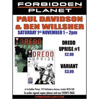 [Paul Davidson and Ben Willsher Signing Dredd Uprise (Product Image)]