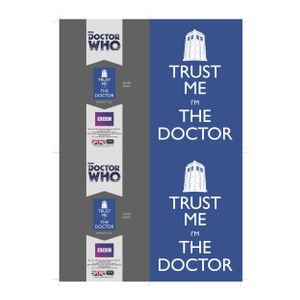 [Doctor Who: Greetings Card: Trust Me I'm The Doctor (Product Image)]
