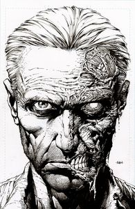 [Walking Dead: Deluxe #10 (2nd Printing Cover B Finch Raw Variant) (Product Image)]