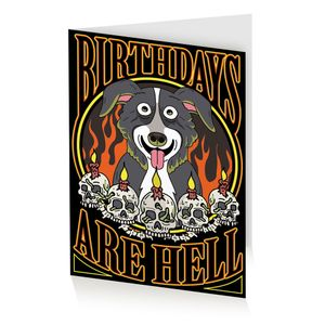 [Mr Pickles: Greetings Card: Birthdays Are Hell (Product Image)]