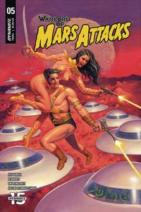 [The cover for Warlord Of Mars Attacks #5 (Cover A Hildebrandt)]