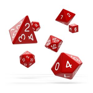 [Oakie Doakie Dice: RPG 7 Set: Solid Red (Product Image)]