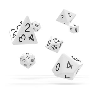 [Oakie Doakie Dice: RPG 7 Set: Solid White (Product Image)]