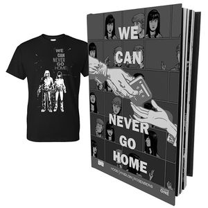 [We Can Never Go Home: Volume 1 (Hardcover & T-Shirt Bundle - Large) (Product Image)]