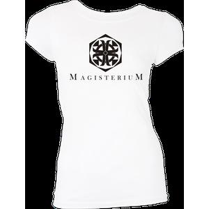 [His Dark Materials: Women's Fit T-Shirt: Magisterium Logo (White) (Product Image)]