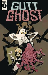 [The cover for Gutt Ghost: Trouble With Sawbuck Skeleton Society (Mignola Cover)]