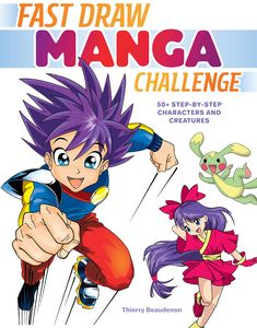 [Fast Draw Manga Challenge: 50+ Step-By-Step Characters & Creatures (Product Image)]