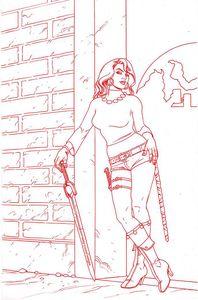 [Red Sonja #25 (Linsner Premium Tint Virgin Variant) (Product Image)]