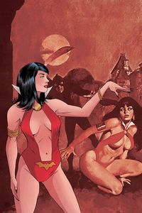 [Vampirella Red Sonja #3 (Moss Virgin Variant) (Product Image)]