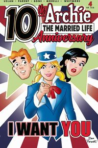 [The cover for Archie: Married Life: 10 Years Later #4 (Cover A Parent)]